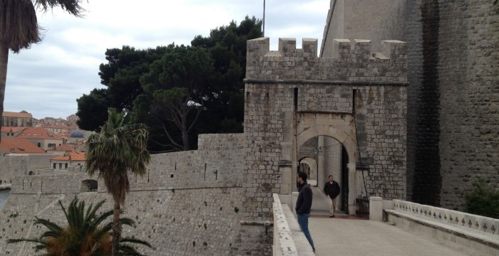 Entrance into the old town of Dubrovnik, Croatia