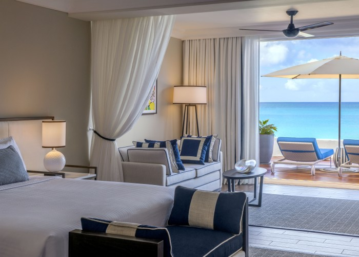Beachfront Suite terrace view, Fairmont Royal Pavilion, Barbados