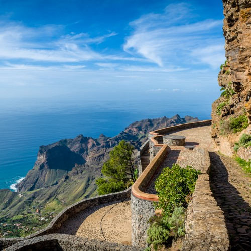 31414734 - la gomera island landscape. canary islands, spain.