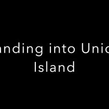 Landing into Union Island