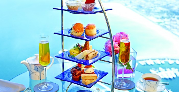 Burj Al Arab- Skyview - afternoon tea