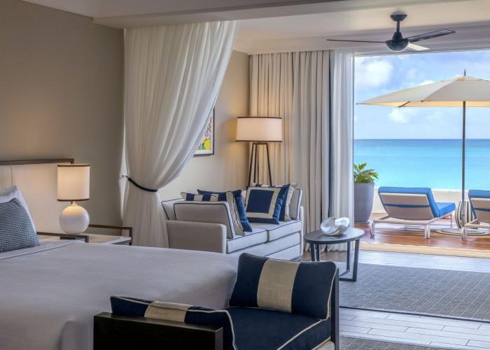 Beachfront Suite terrace view, Fairmont Royal Pavilion, Barbados