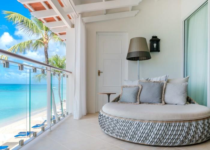 Oceanfront Deluxe balcony, Oceanfornt Deluxe, Fairmont Royal Pavilion, Barbados