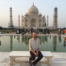 Oliver infront of the Taj Mahal, Agra, India