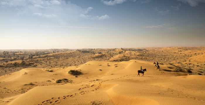 Horse riding in the desert, Ras Al Khaimah