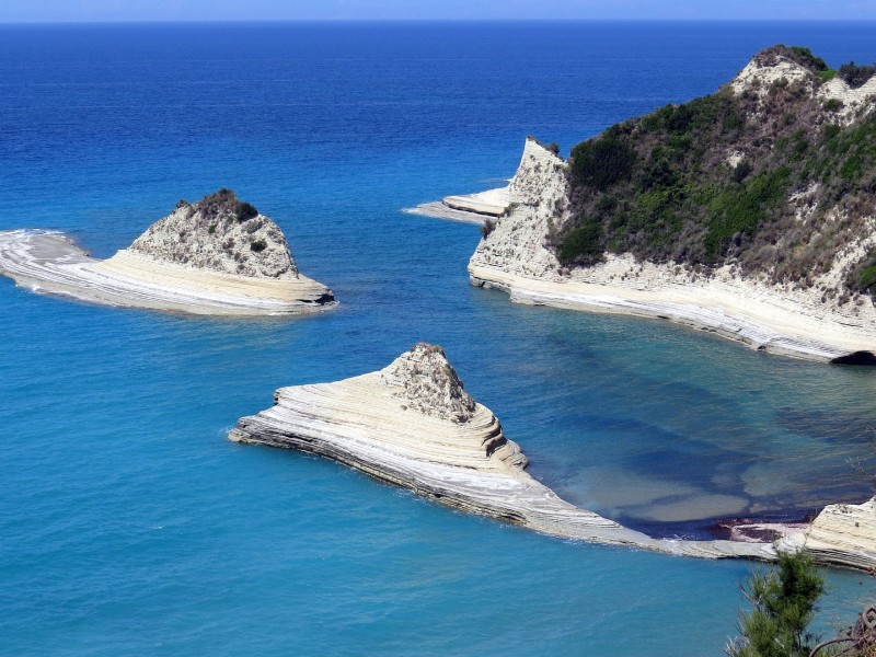 Cove, Corfu, greece