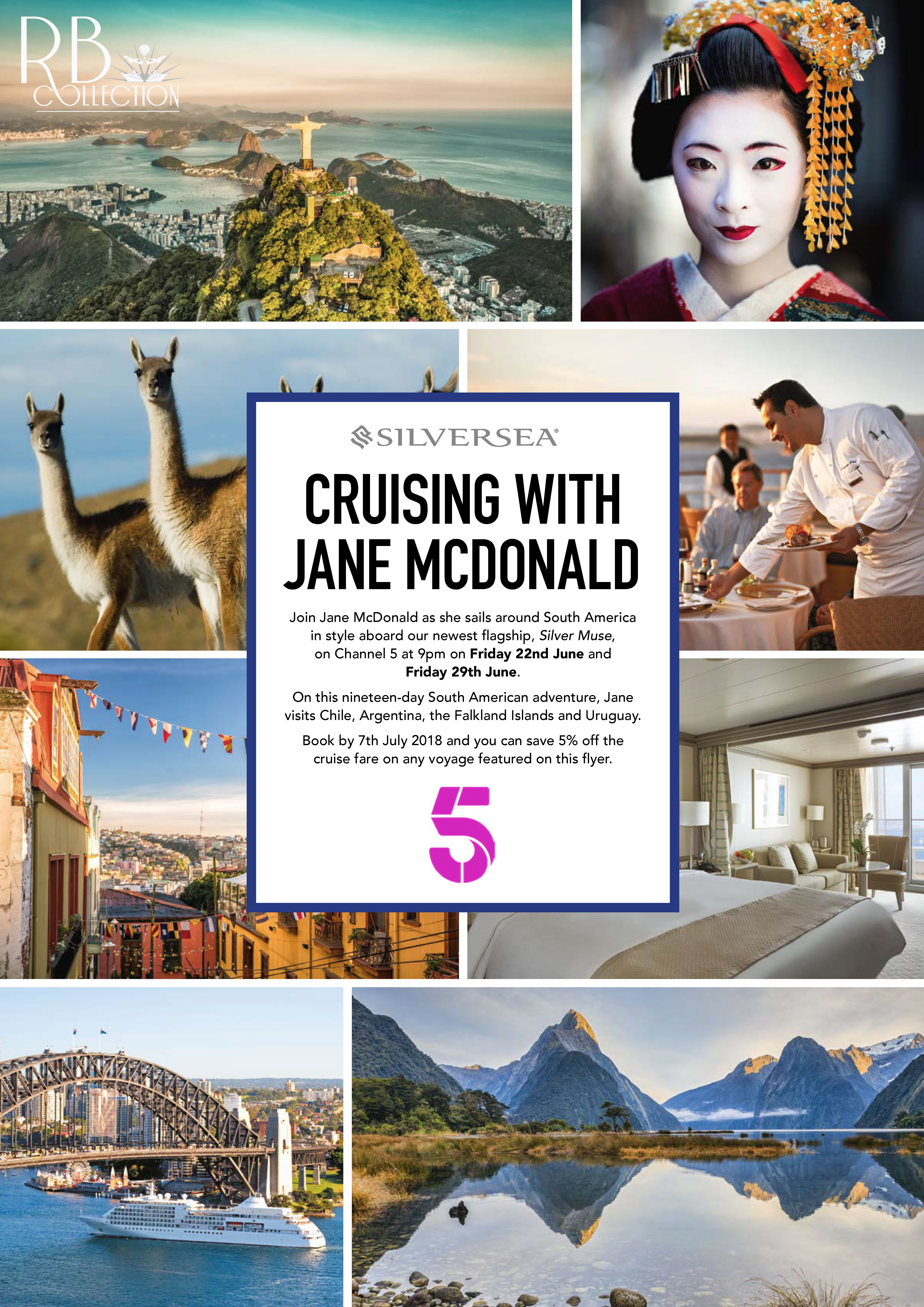 Special Offer Silversea Cruising With Jane Mcdonald