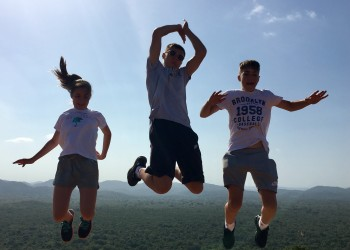Jumping for Joy top of Sigiriya